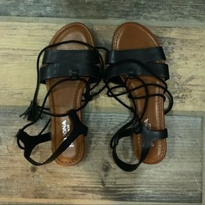 Brand new lace up sandals!